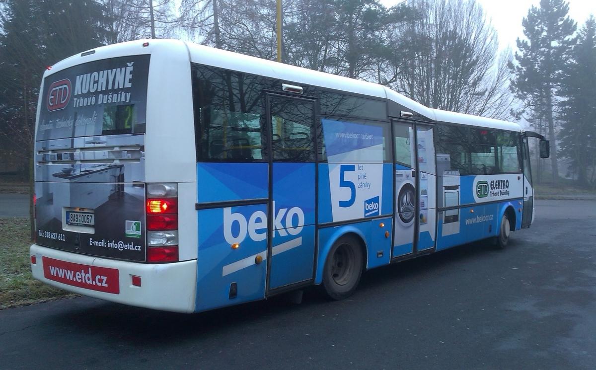 ETD Trhové Dušníky - Autobus ETD jezdí v novém vizuálu