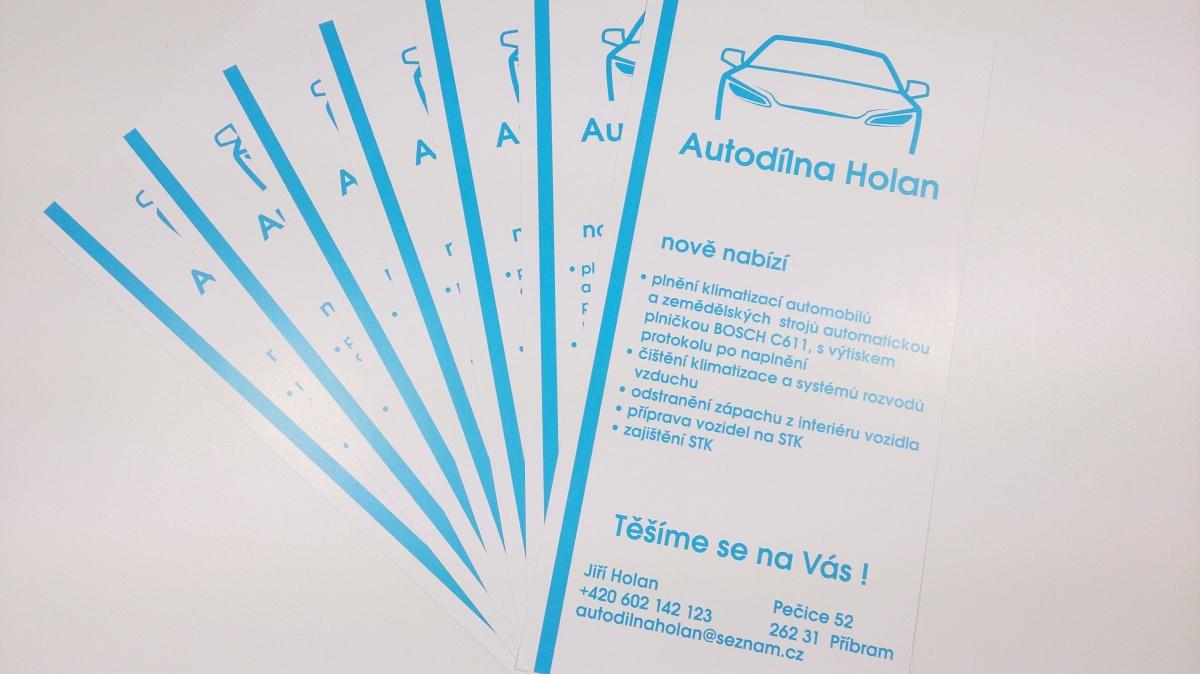 Autodílna Holan - Letáčky