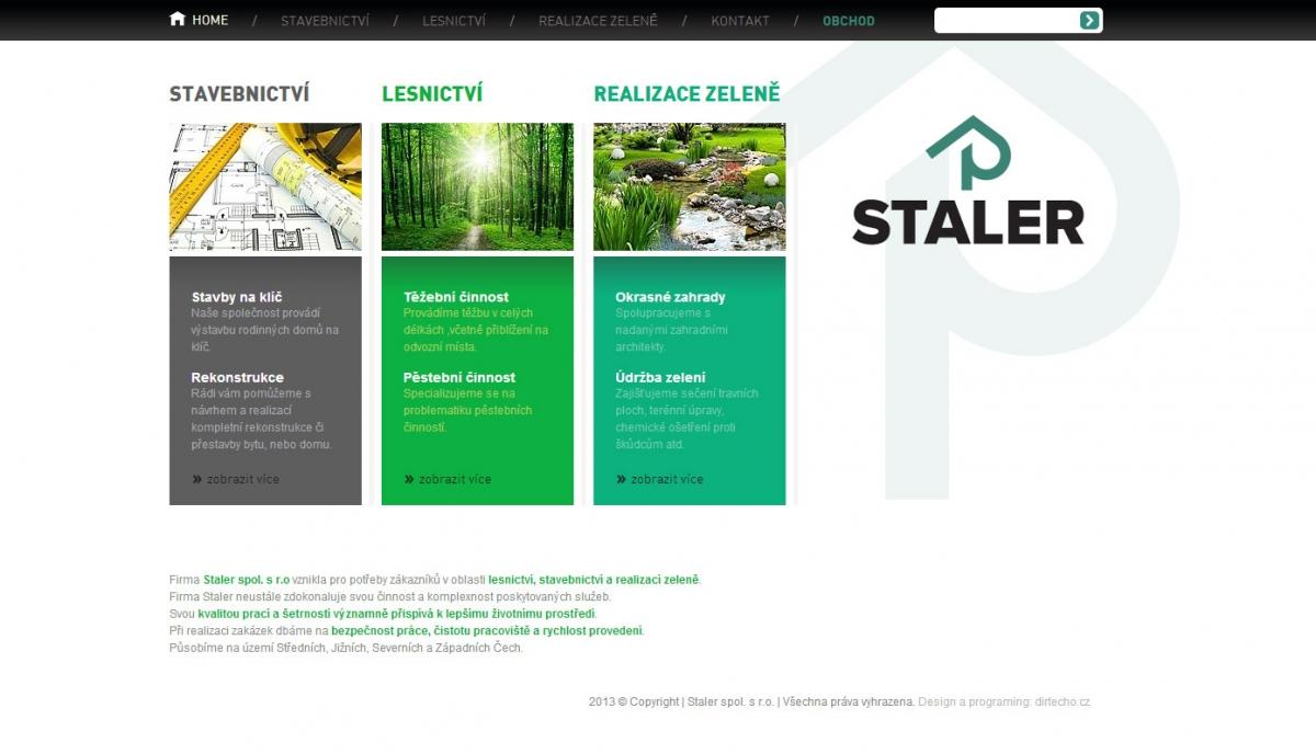 Webové stránky Staler.cz