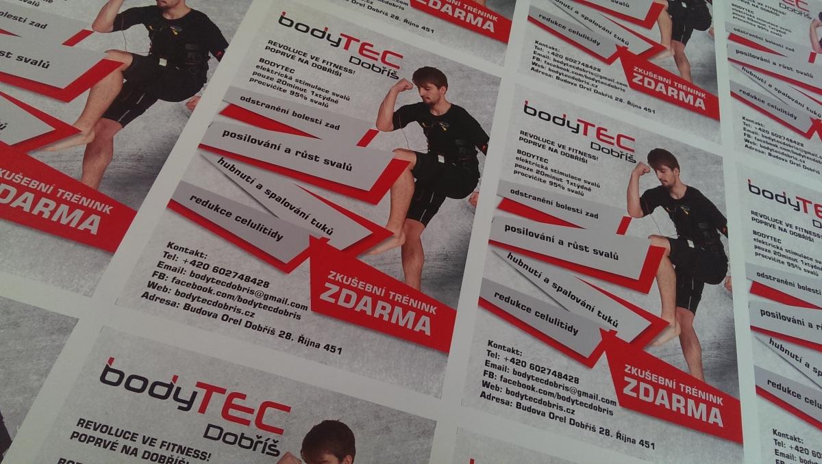 Plakáty a letáky pro fitness studio Dobříš