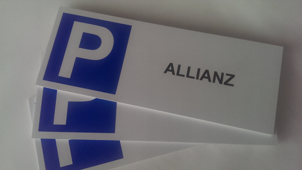 Kostky Pb - Cedulky parking Allianz