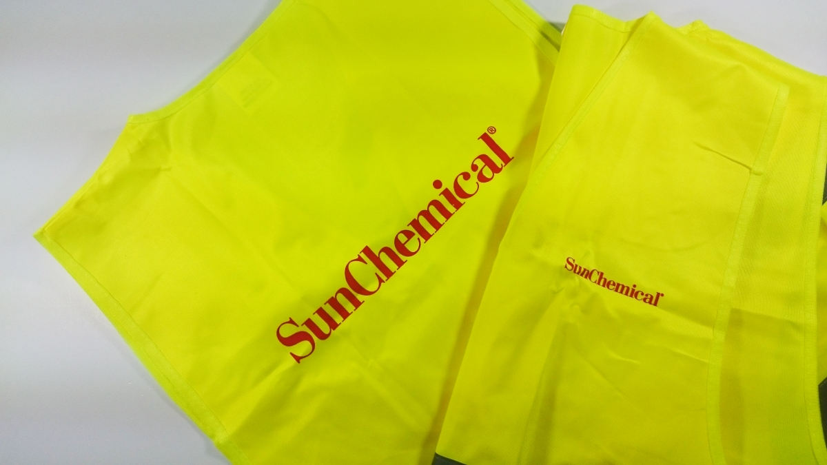 SunChemical - Potisk reflexních vest