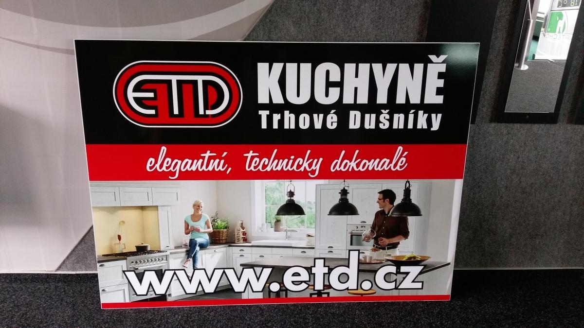 ETD Trhové Dušníky - Interierová cedula