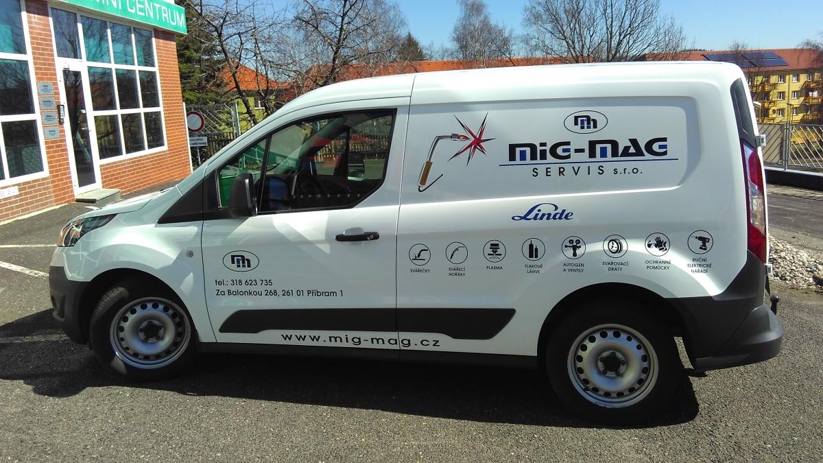 Mig - Mag servis s.r.o. - Polep firemní dodávky