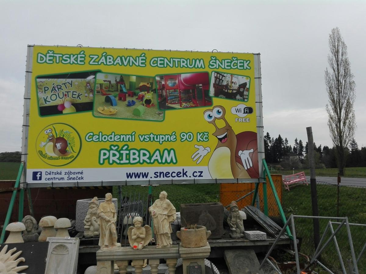 Dětské zábavné centrum Šneček - Banner
