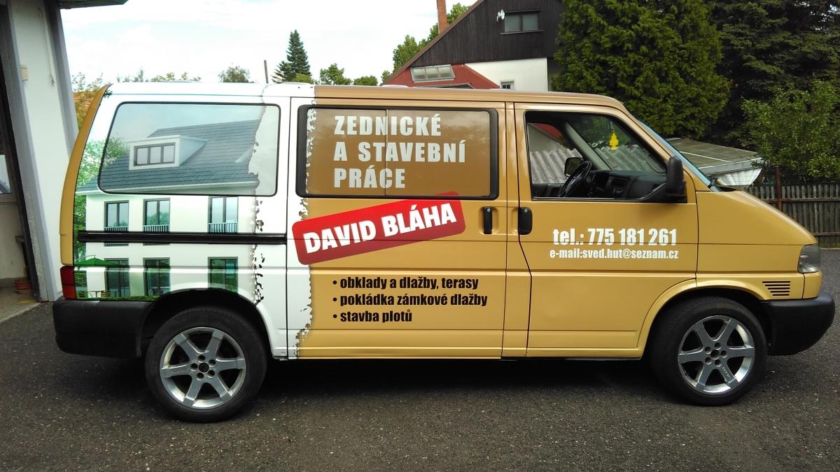 David Bláha - Zednické a stavební práce - Polep automobilu