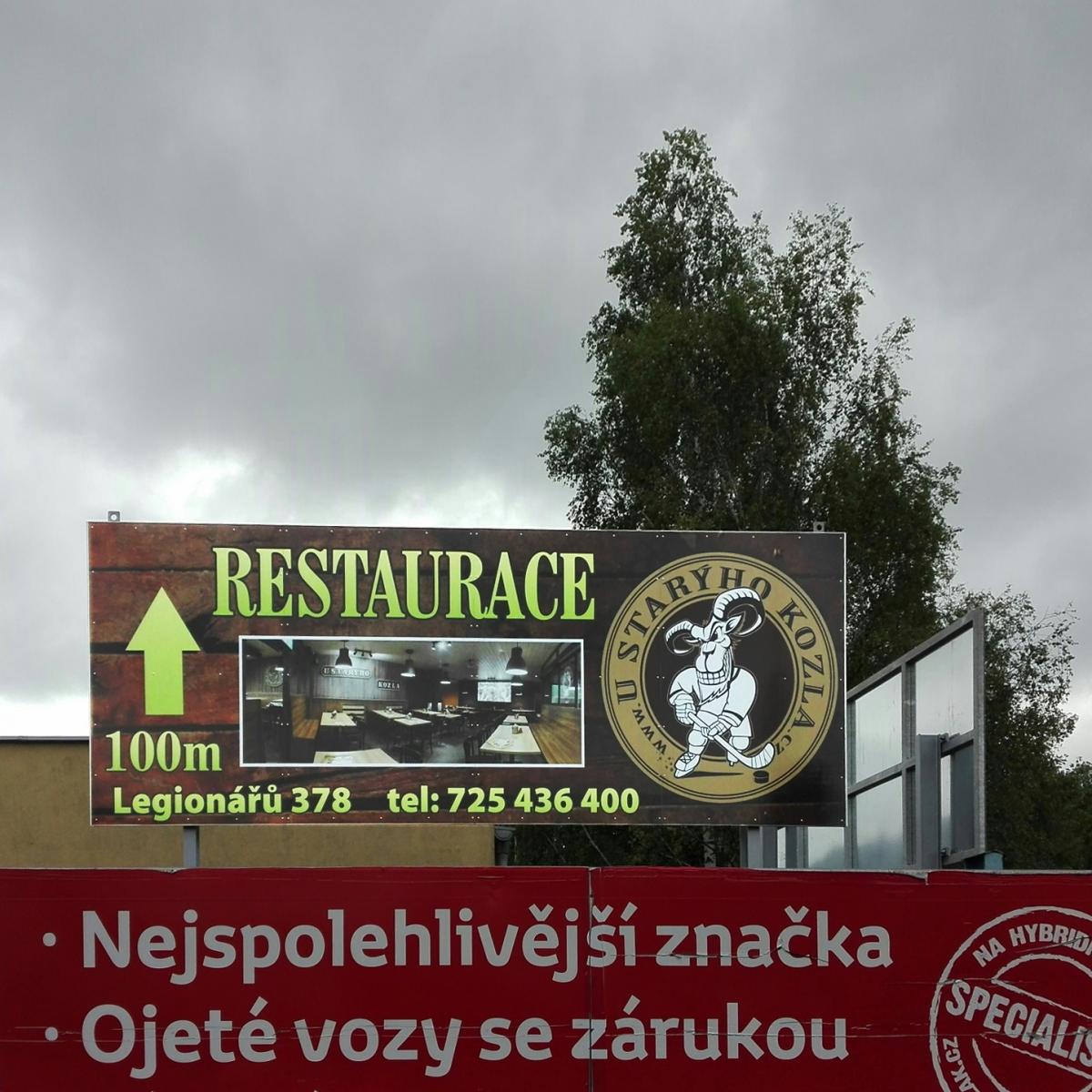 U Starýho Kozla - Billboardy u zimního stadionu