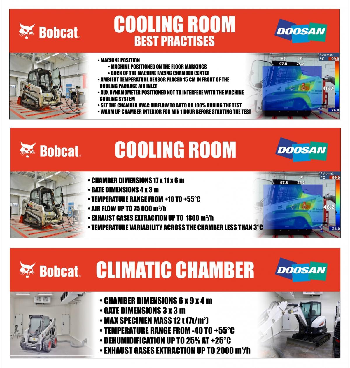 Bobcat - Cedule do interiéru