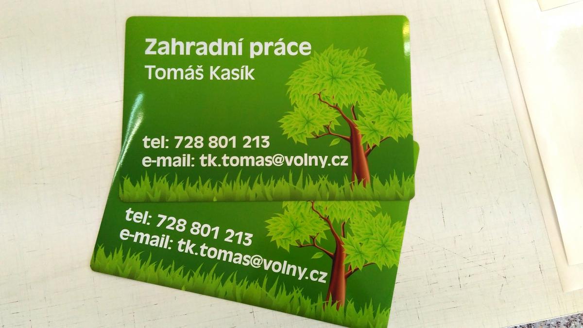 Zahradní práce - Tomáš Kasík  - Magnetická cedule
