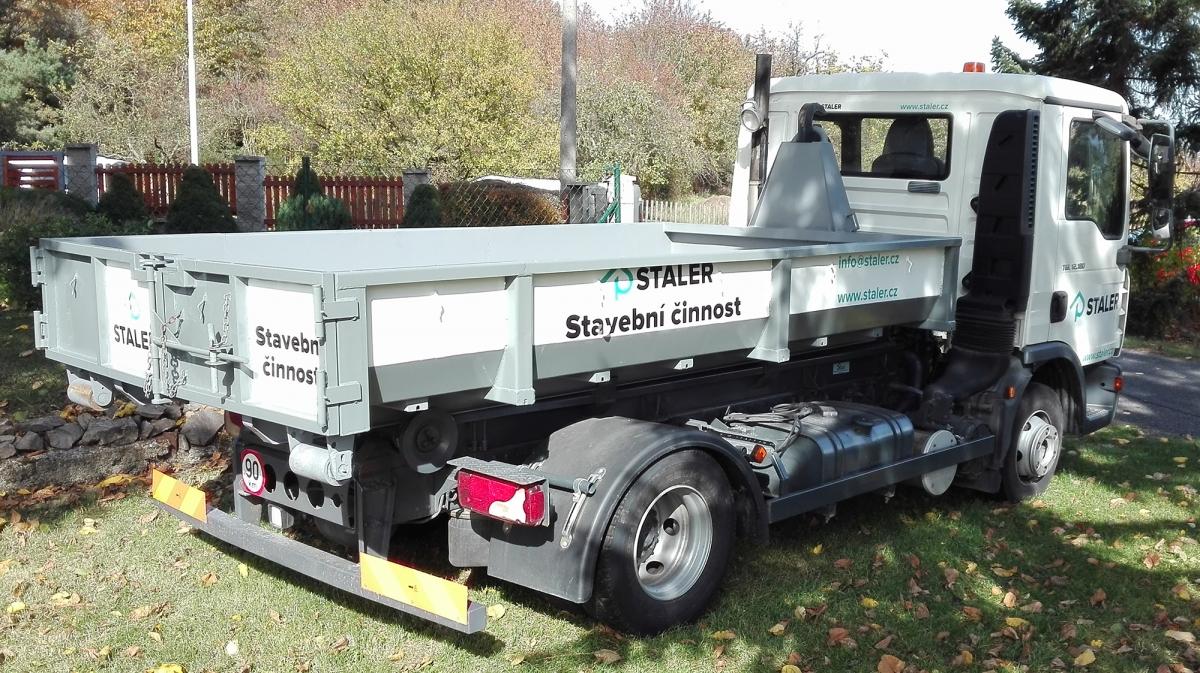 Staler - Polep nákladního vozu a bagru