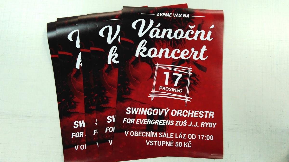 obec Láz - Plakáty na Vánoční koncert