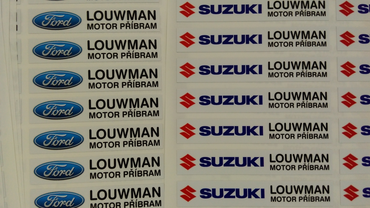Ford Louwman - samolepky