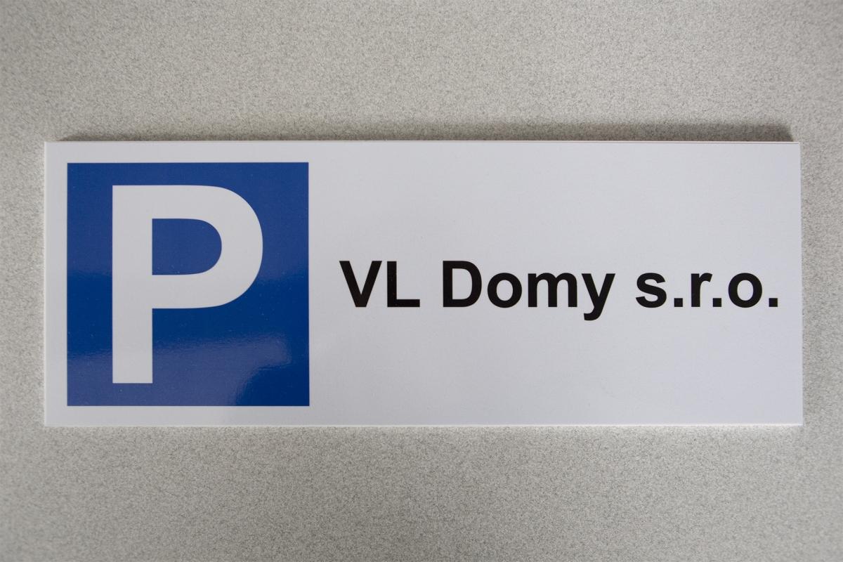 Kostky PB - Parkovací cedule na PVC podkladu