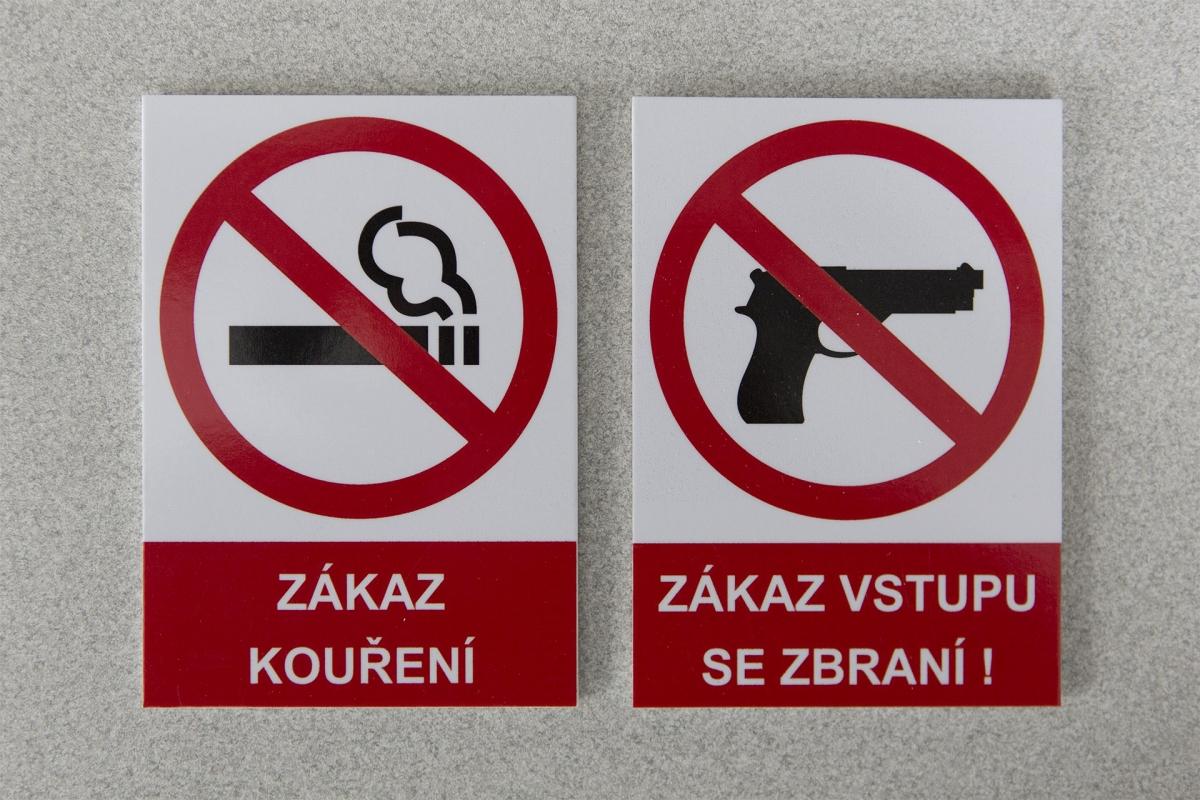Úřad práce - Zákazové cedulky na PVC podkladu