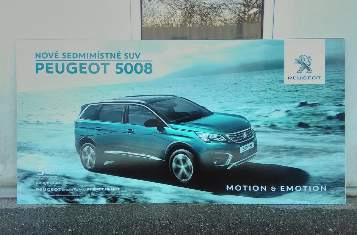 Auto Černý - Peugeot - Reklamní plochy do sportovní haly