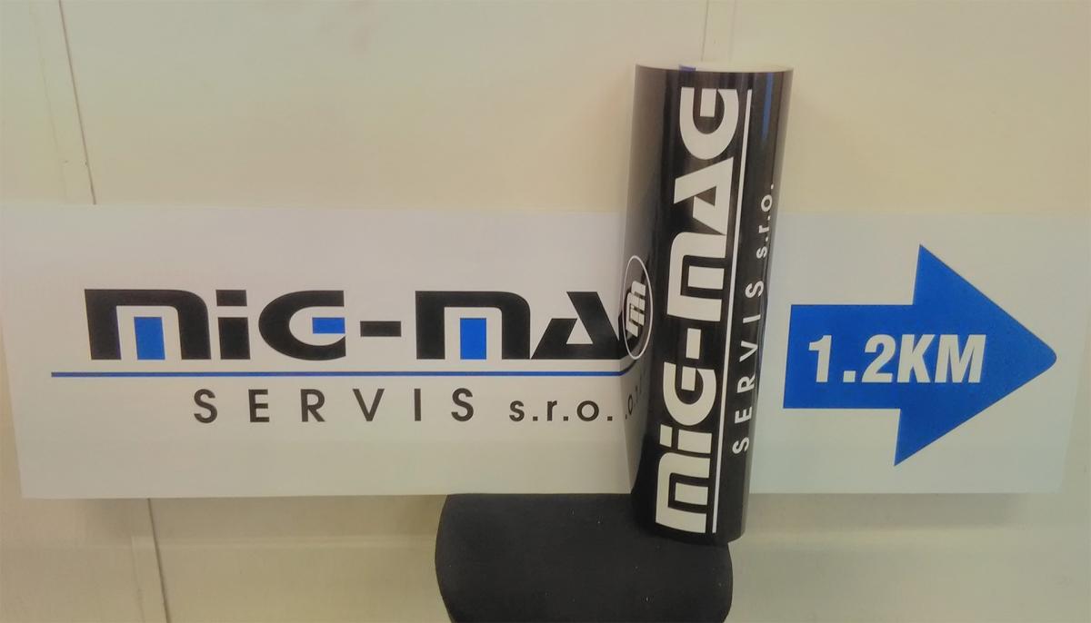 Mig-Mag - Směrovací cedule a samolepa