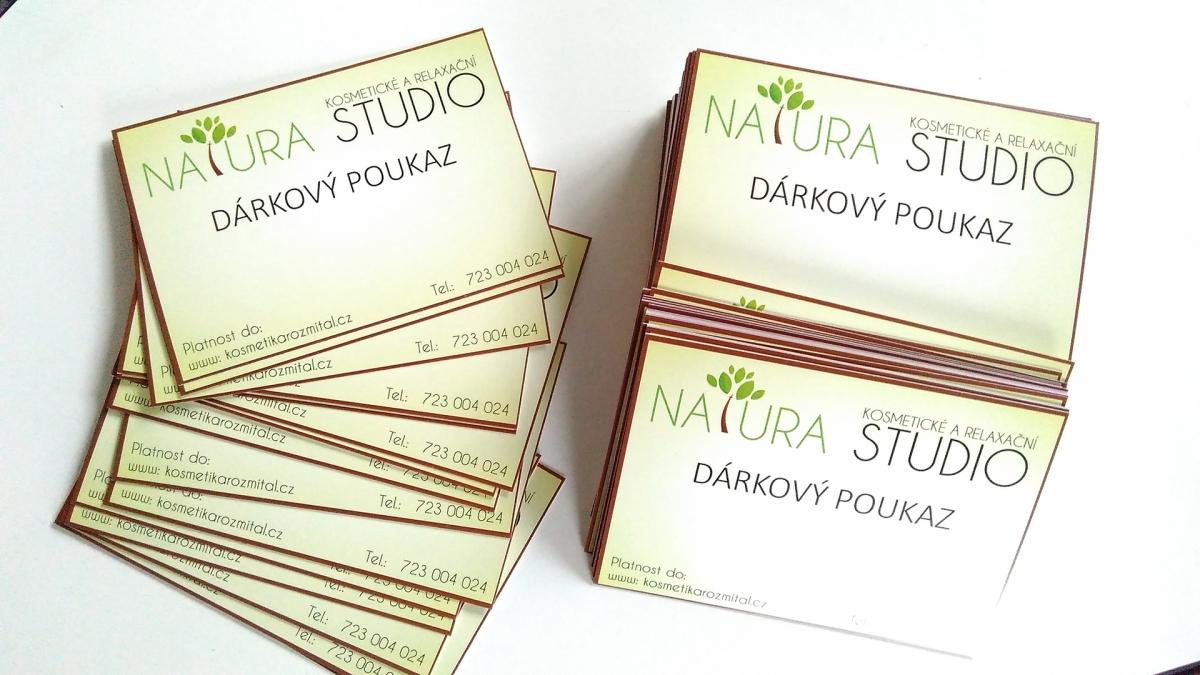 NATURA - kosmetické a relaxační studio - Dárkové poukazy