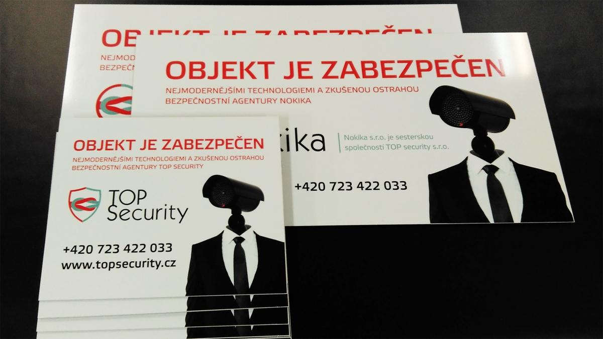 Top security - Cedule na kompozitním podkladu