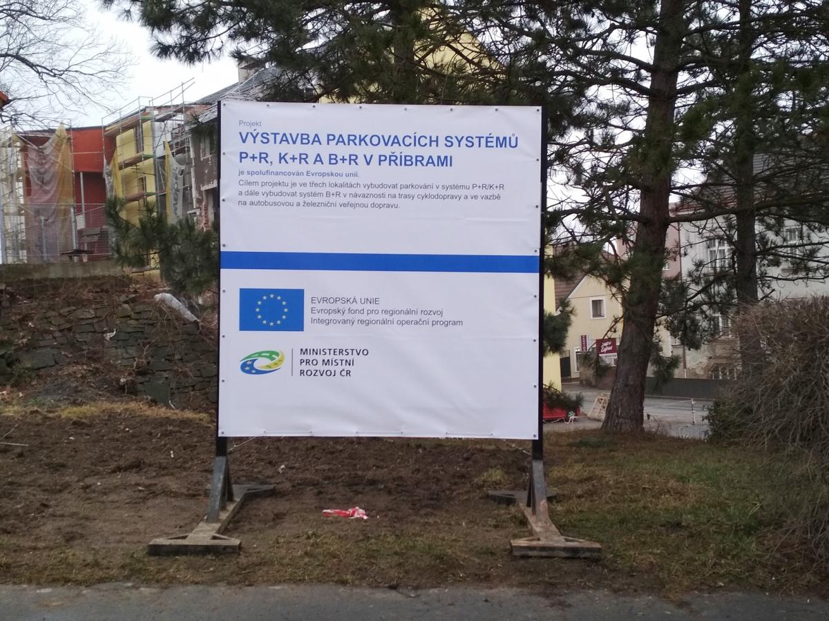Město Příbram - Informační banner z PVC