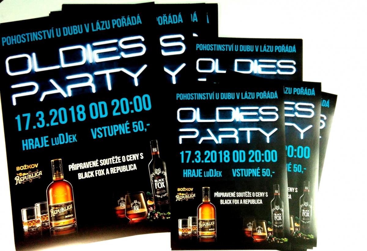 Obec Láz - Plakáty na Oldies Party