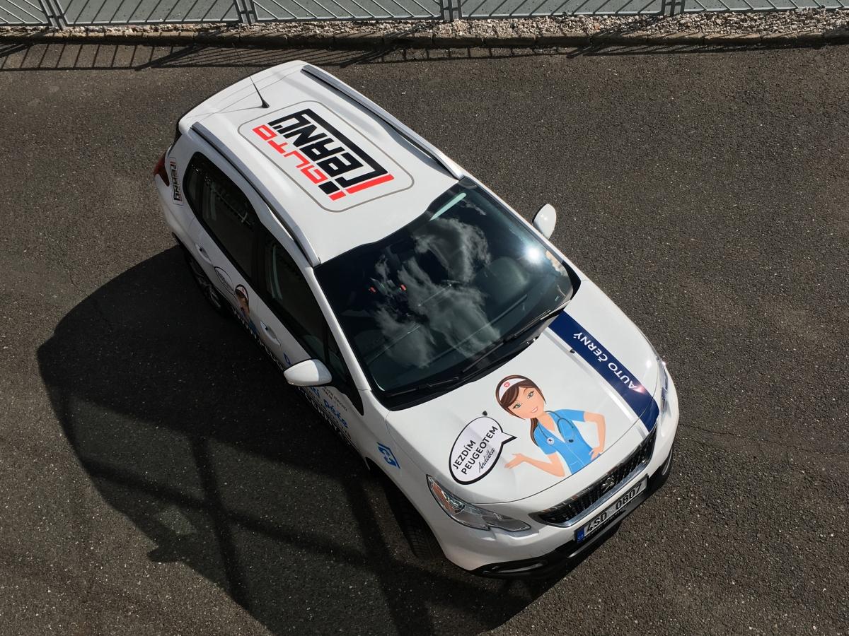 Auto Černý Příbram - Polep vozu Peugeot 2008