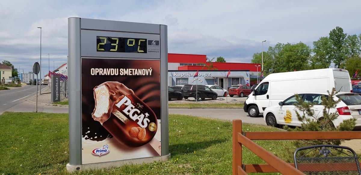 Bidfood Czech Republic - OOH kampaň zmrzliny Pegas