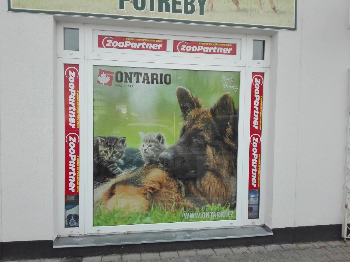 Plaček Pet Products - Polep výloh