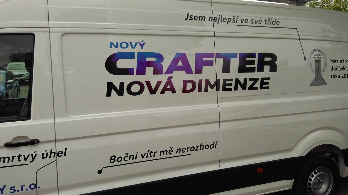 Auto Poly Příbram - Polep akvizičního  a předváděcího vozu Crafter