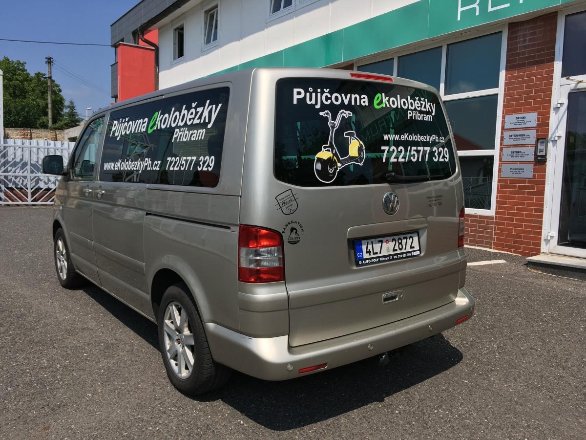 Šneček Příbram - Polep vozu VW Multivan