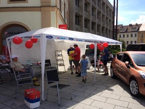 Ford Louwman Příbram - Polep Party stanu a výroba bannerů