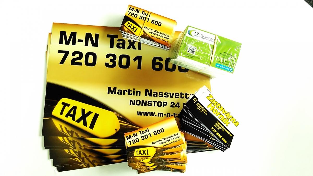 MN Taxi - Vizitky a samolepky