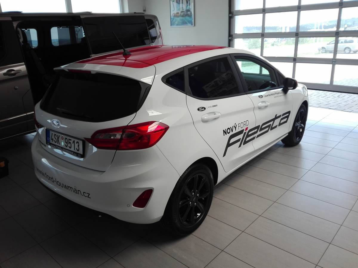 Louwman Příbram - Polep Ford Fiesta