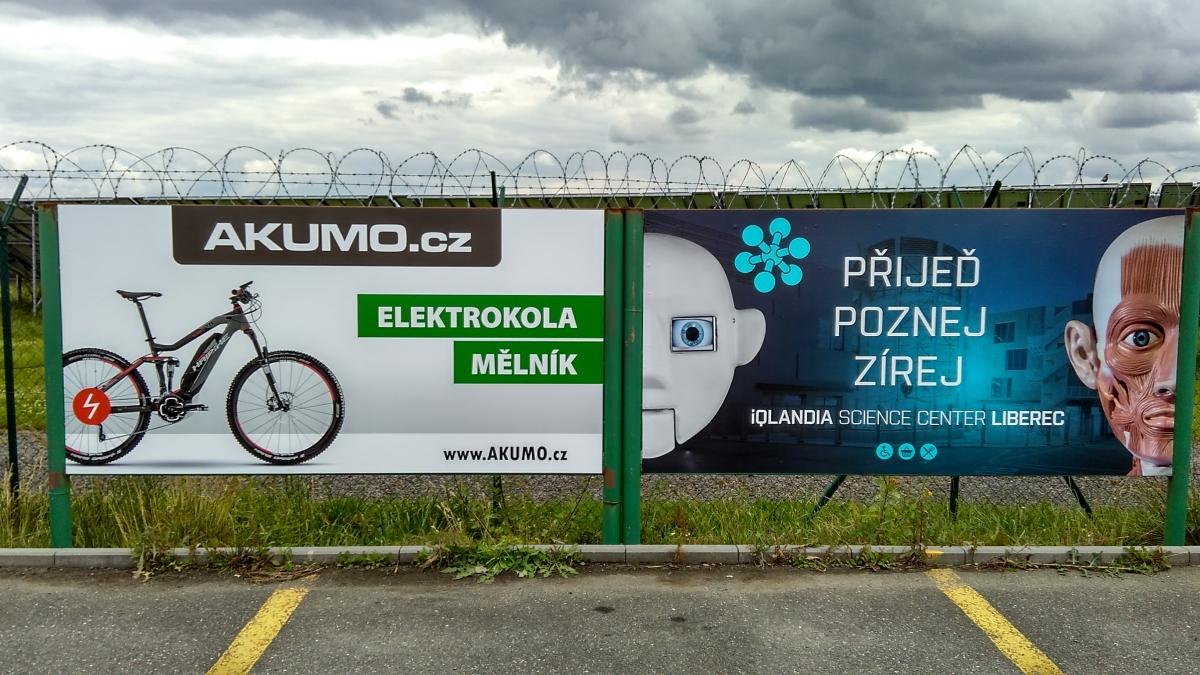 Cavok Letiště Příbram - Polep reklamních ploch