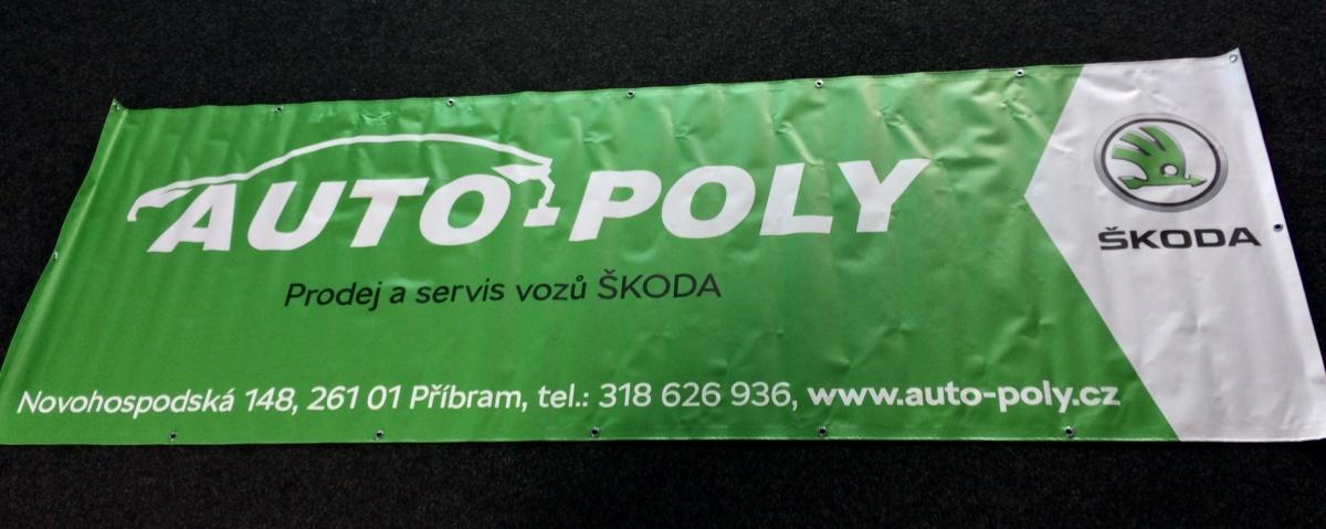 Auto Poly Příbram - Výroba bannerů 3x1m