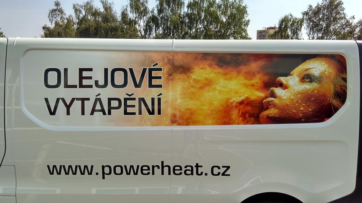 Bohemia Oil - Polep firemního vozu Opel Vivaro.