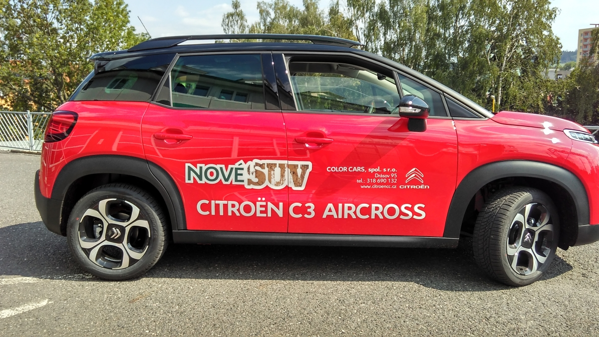 Color Cars Drásov - Polep předváděcího vozu C3 Aircross