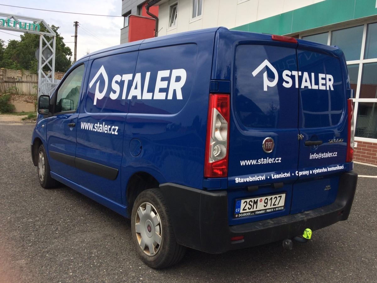 Staler - Polep firemního vozu Fiat