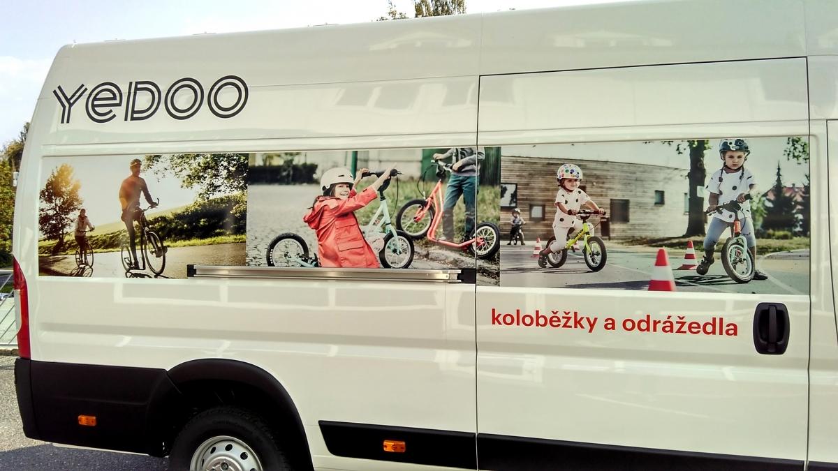 Yedoo koloběžky - Polep firemního vozu Peugeot Boxer