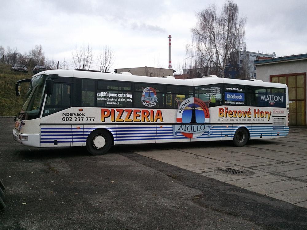 polep autobusu SOR - Pizzeria Atollo