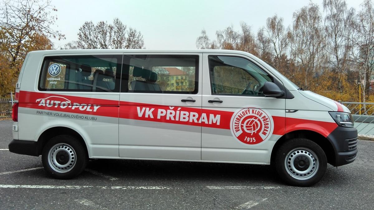 Volejbal Příbram - Polep vozu Transporter T6 pro příbramský volejbalový klub.