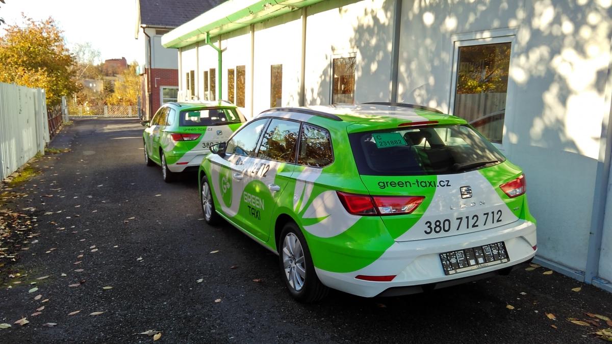 Green Taxi - Polepy taxi vozů Seat Leon
