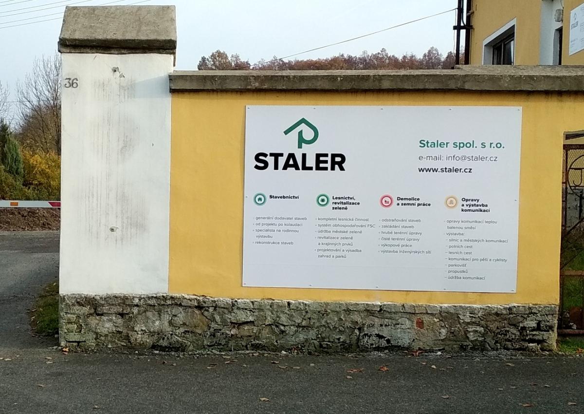 Staler - Výroba a instalace informačních cedulí