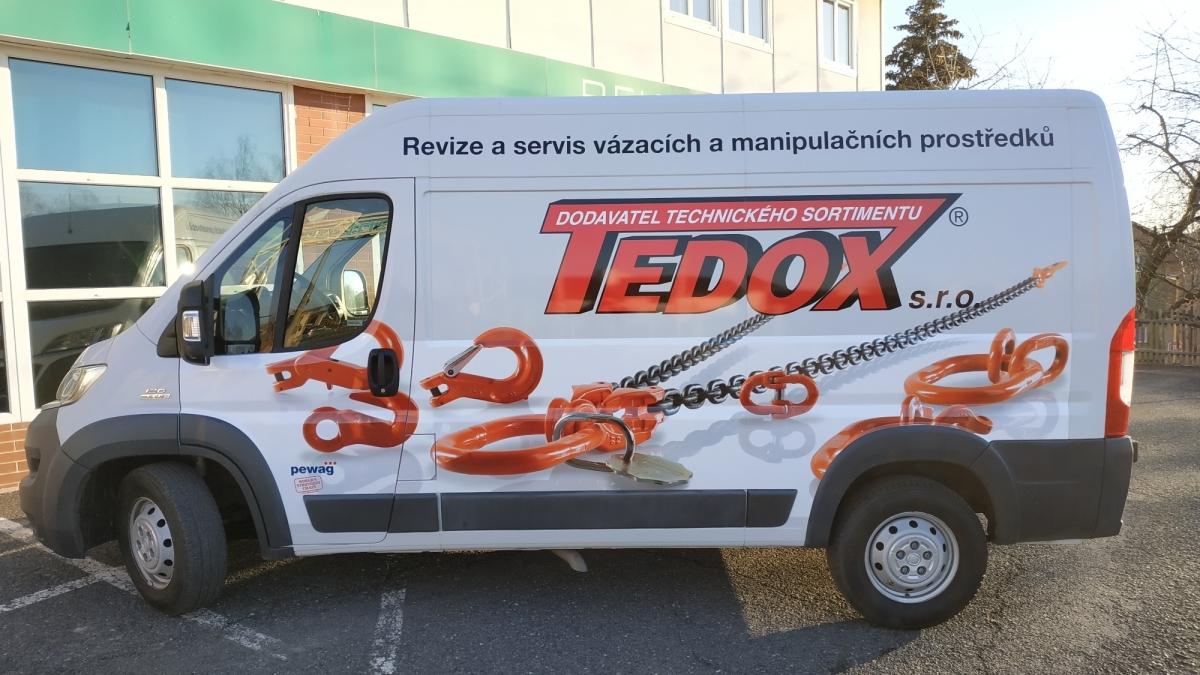 Tedox s.r.o. - Polep firemního vozu Fiat Ducato