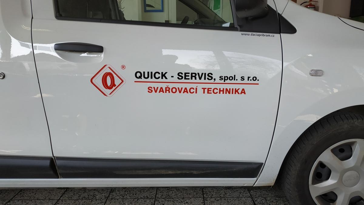 Quick Servis - Polep firemních vozů, řezaná fólie