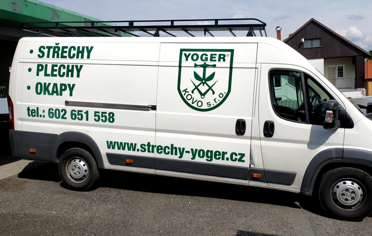 Yoger Kovo s.r.o. - Polep firemních vozů Peugeot Boxer