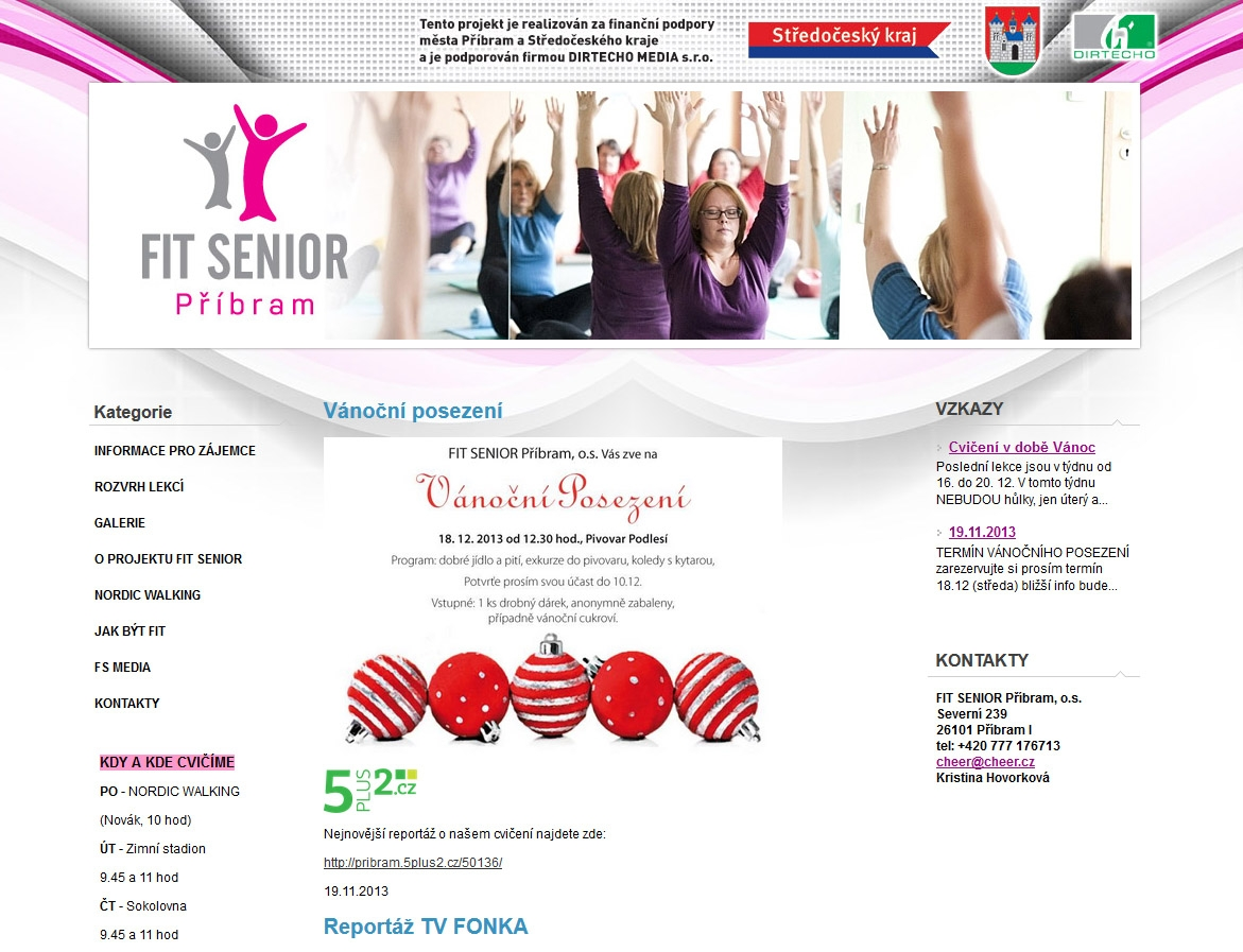 FIT SENIOR PŘÍBRAM - web