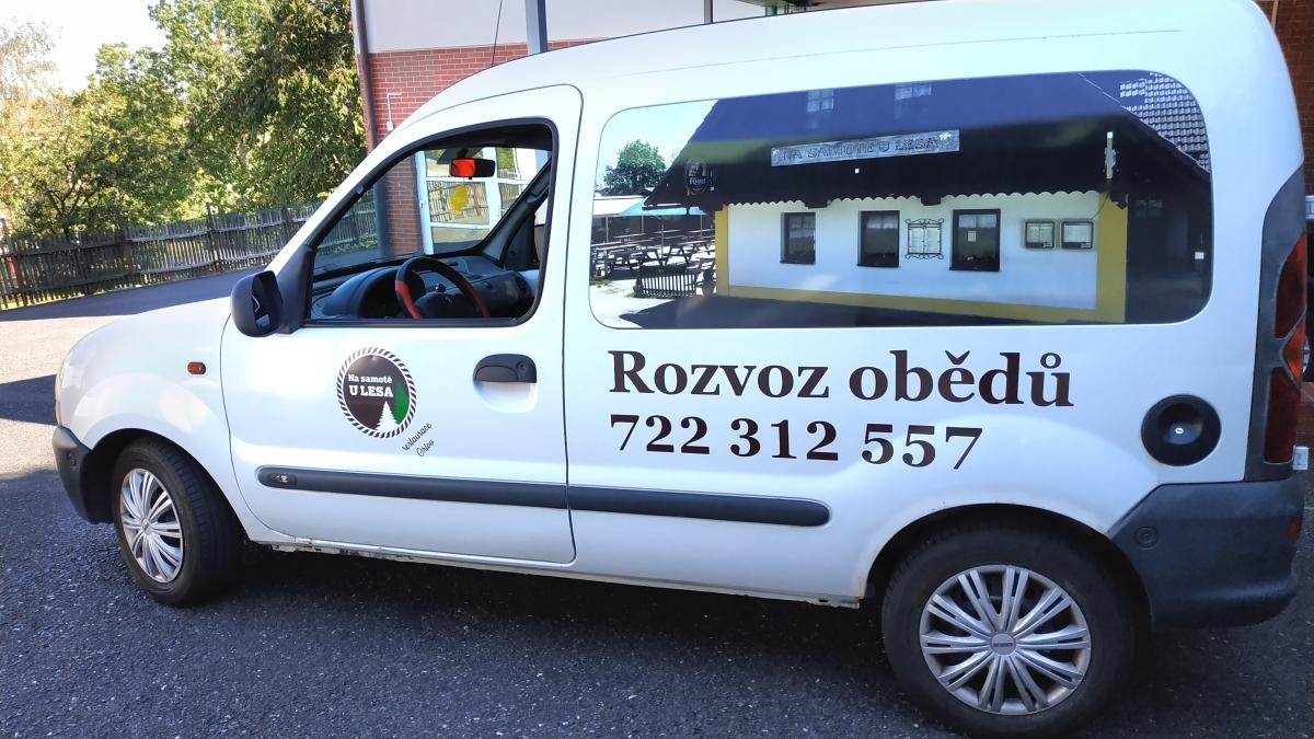 Restaurace Orlov, Penzion Orlov - Polep firemního vozu Kangoo