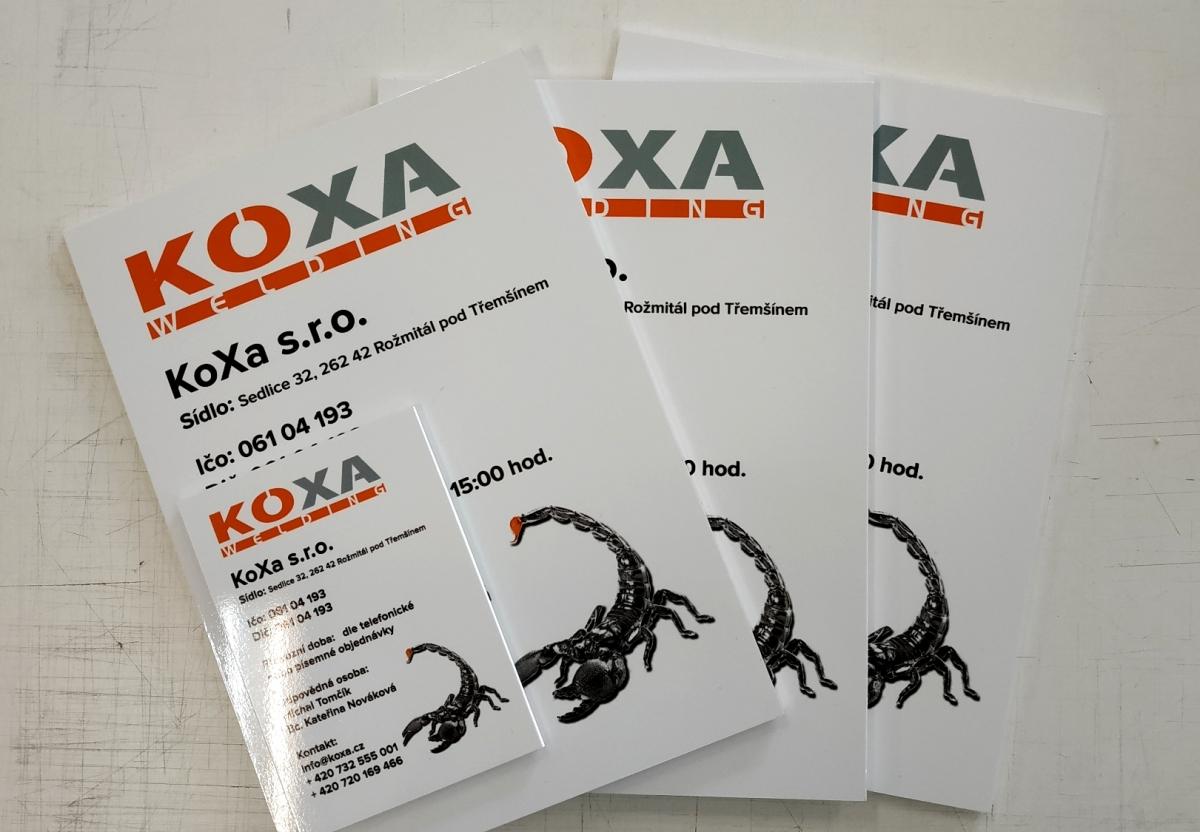 Koxa s.r.o. - Cedulky - plast