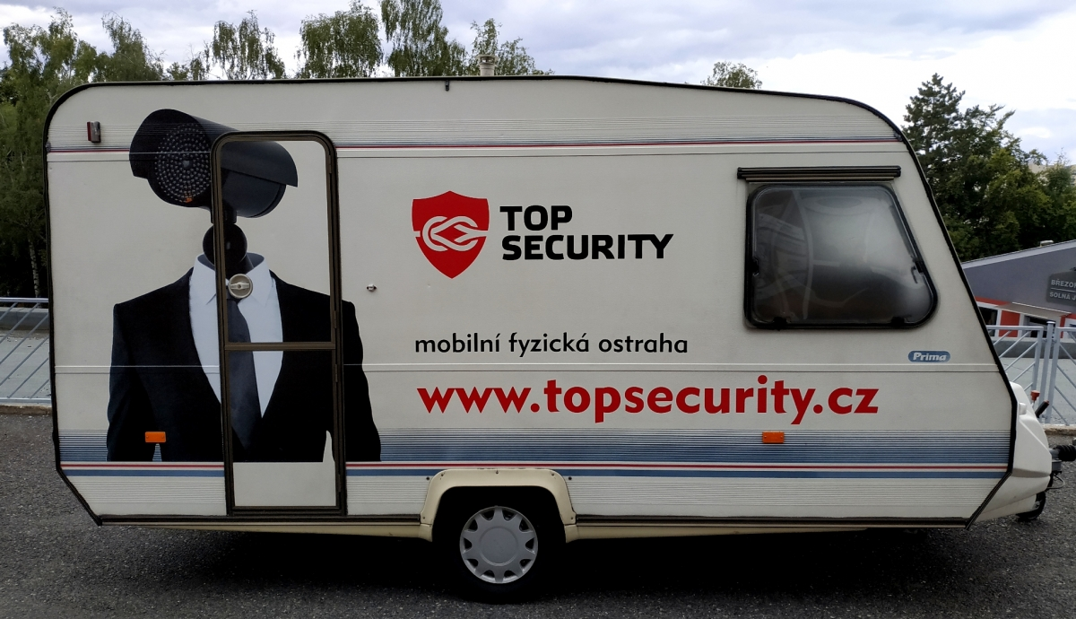 Top Security - Polep obytného přívěsu