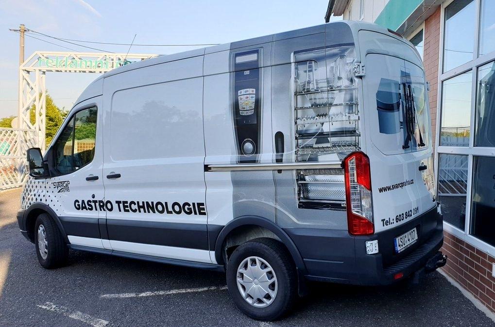 Švarc&P Gastro - Polep firemního vozu Ford Transit